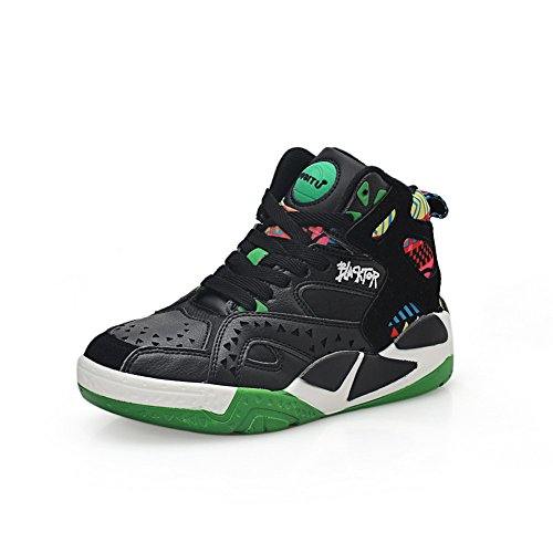 1TO9 Womens Bandage Platform Assorted Color Green Leather Fashion Sneakers MMS03722-4 UK HGA2KgbY