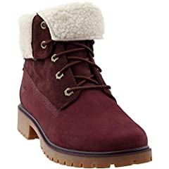 The Timberland® style is iconic, the adjustable style is up to you.  Premium waterproof full-grain or nubuck leather uppers for comfort, durability, and abrasion resistance. Shaft can be worn folded over for two distinguishable looks.  Lace-u...