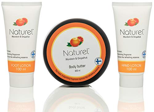 Grapefruit Lotion Body Butter set – Beauty Boxes Gift for Women – Hand Cream and Foot Lotion