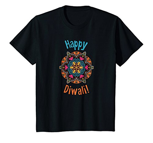 Kids Happy Diwali T-Shirt 12 Black by Diwali Tshirts by Struggle Industries