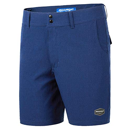 MaaMgic Men's Classic-fit Stretch Golf Shorts, Multi Pocket Casual Short Dark Blue