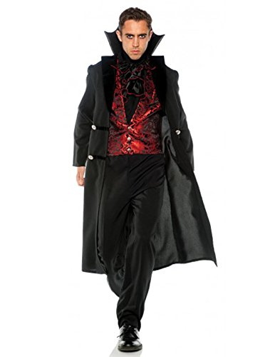 Men's Elegant Gothic Vampire Count Costume, XX-Large