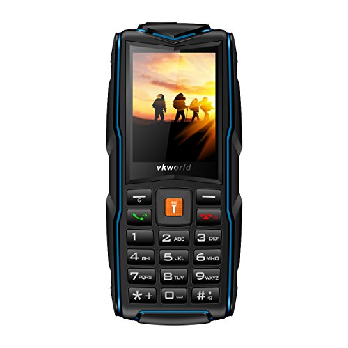 Vkworld Stone NEW V3 Specs GSM 2.4Display Long Standby Time Mobile Phone,IP68 Shockproof Waterproof Snow Proof, Support FM, Bluetooth, Speaker (Navy Blue)
