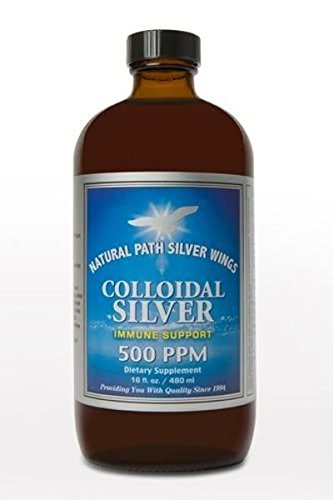 "Natural Path Silver Wings - Colloidal Silver 500 ppm ""Best Seller"" (16 fl.ounce /480 ml) Providing Immune Support for Your Family [Powerful Healing without a Bad Taste]100% Satisfaction Guarantee"