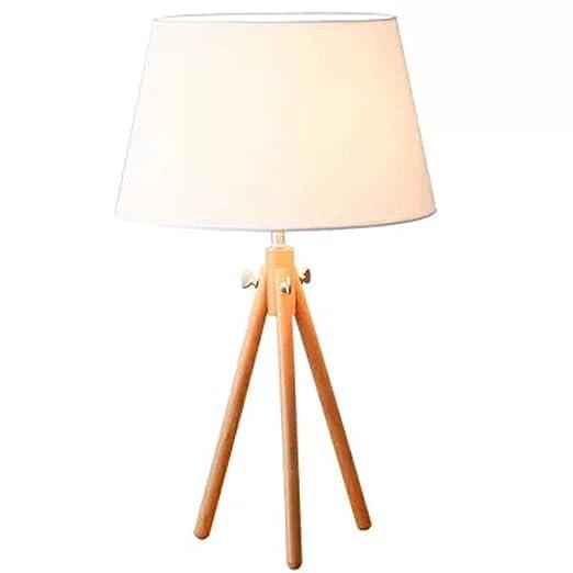WHQ Lámpara de mesa Escritorio de madera nórdica simple Luz de ...