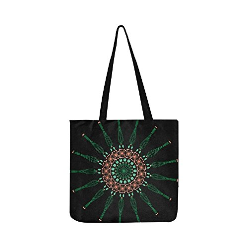 Mandala Pattern Ornament Decoration Ethnic Arabic Canvas Tote Handbag Shoulder Bag Crossbody Bags Purses For Men And Women Shopping Tote