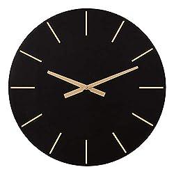 Patton Wall Decor 24 Inch Modern Minimalist Black and Gold Wall Clock,