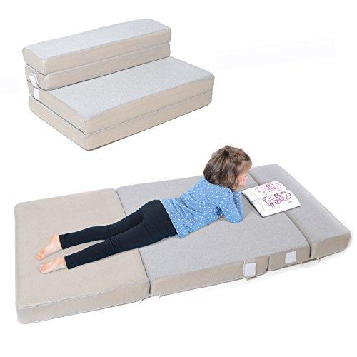 Milliard Toddler Nap Mat Sofa, Folding Mattress Foldable Foam Couch Sleeper - Adult Quality in Kid Size! (28 x 58 x 3.5 (Tri Fold Seat Cushion)