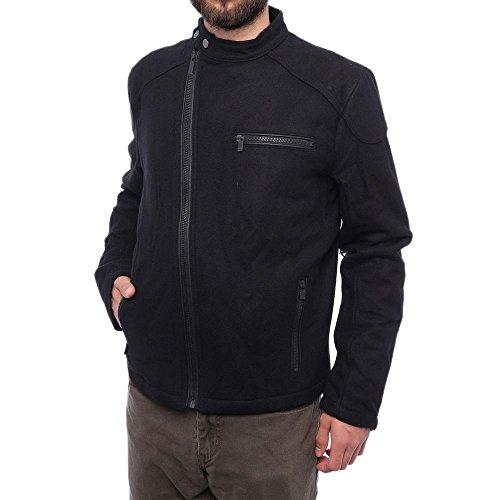Leather Trim Motorcycle Jacket - 6