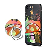 SJDEI5W Psychadelic Mushroom Mobile Phone Ring Stent + iPhone 8 Case/iPhone 7 Case, PC Rubber Case Compatible iPhone 8 2017/ iPhone 7