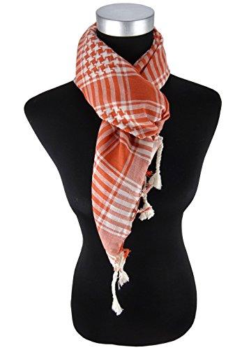 foulard blutorange gris à motifs avec franges sur deux côtés - taille 100 x 100 cm
