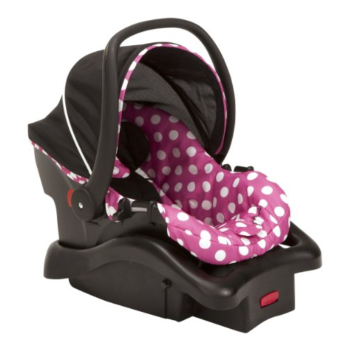 Disney Car Seats - Disney Baby Minnie Mouse Light 'n Comfy 22 Luxe Infant Car Seat (Dot)