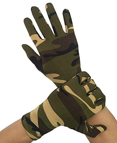 Seeksmile Adult Lycra Spandex Gloves (Free Size, Camouflage) -