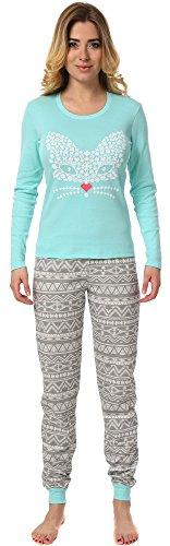 Italian Fashion IF Pijamas para mujer M007 Pistacho