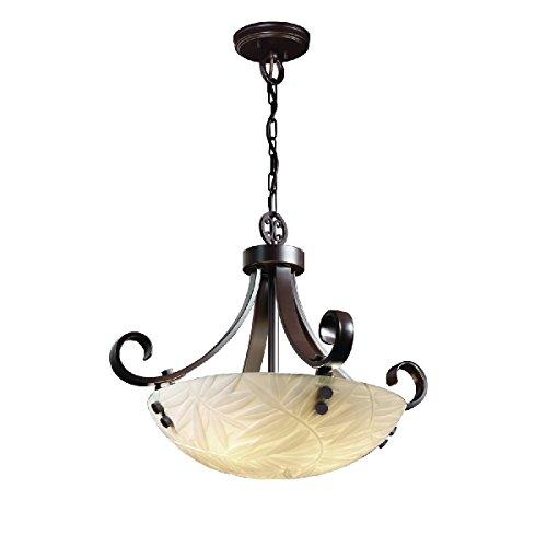 Justice Design Group Lighting Pna-9741-35-Bmbo-Dbrz-F1-LED3-3000 Porcelina-Scrolls w/Finials 24