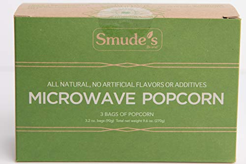 Smude's Brand Microwave Popcorn (1 box of 3 bags) For Sale