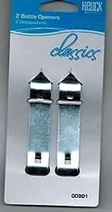 2 Heuck Classics Can & Bottle Openers Church Keys New On Card Free USA Shipping