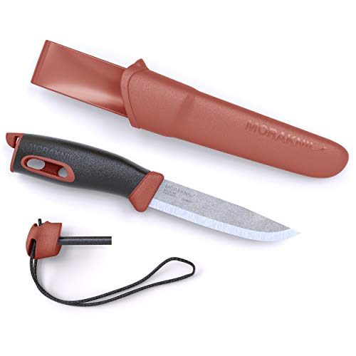 Morakniv Companion Spark 3.9-Inch Fixed-Blade Outdoor Knife and Fire Starter