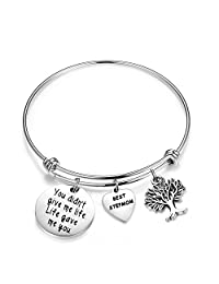 SEIRAA Stepmother Gifts You Didn't Give Me Life Life Gave Me You Wire Bangle Bracelet Best Stepmom Gifts