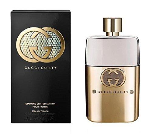 G U C C I Guilty Diamond Pour Homme Eau De Toilette Perfume Spray (Limited Edition)3 Oz. New with (Pour Homme Limited Edition)