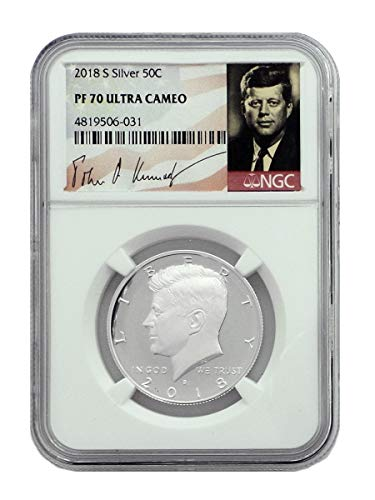 2018 S Silver Proof Kennedy Half Dollar PF70 (Ngc Pf70 Proof)