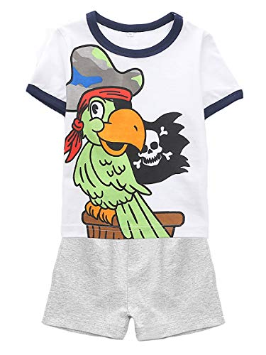 Little Boys' Short Sleeve Set 2Pcs,1-8Years (Pirate Parrot, 5T(4-5Years))]()