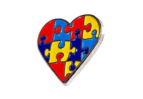 - Autism Awareness Heart Puzzle Pieces Lapel Hat Pins Raise Awareness PPM7302 (Dozen Pins)