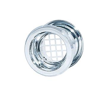 Perfect 4 X Chrom Badezimmer Tür Lüftungsgitter Halsband Muff Möbel Wand Sleeve 57