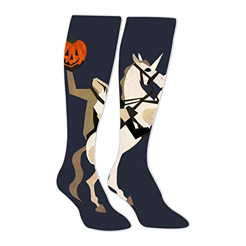 Knee High Stockings Headless Unicornman Long Socks Sports Athletic for Man and Women -
