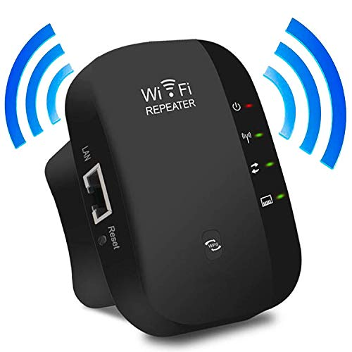 WiFi Extender WiFi Range Extender Repeater Internet Signal Booster Wireless AP/Router/Booster Signal Amplifier 2.4GHz Supports Repeater/Access Point Mode, Idea,Black