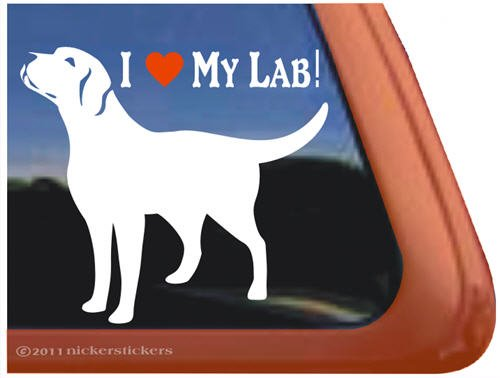 Labrador Retriever Vinyl Window Sticker