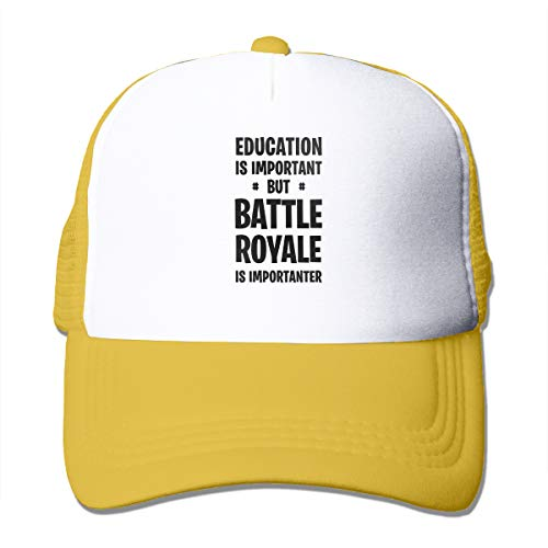 Education is Important But Battle Royale is Importanter Unisex Trucker Hats Adjustable Baseball Cap Mesh Cap