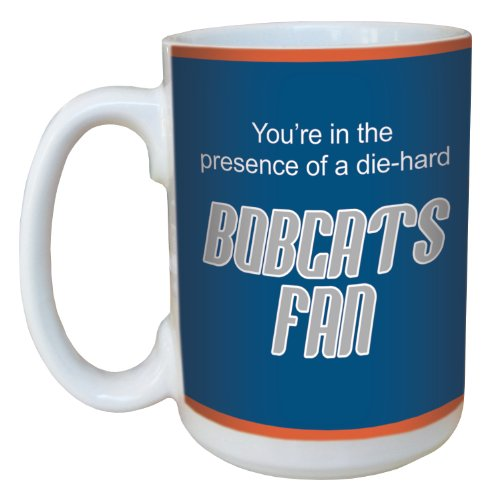 Tree-Free Greetings lm44142 Bobcats Basketball Fan Ceramic Mug with Full-Sized Handle, 15-Ounce
