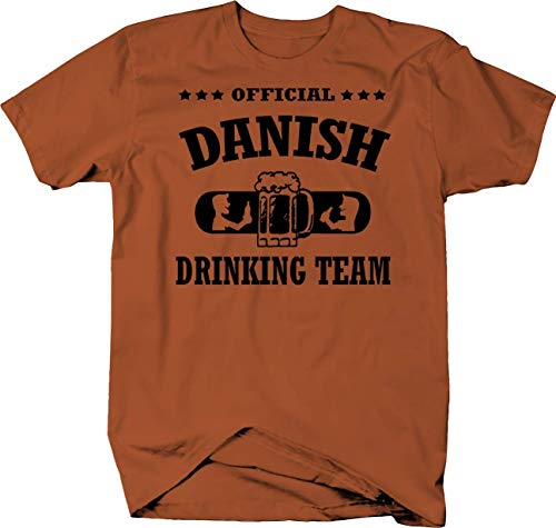 Official Danish Drinking Team Beer Color Tshirt - Large