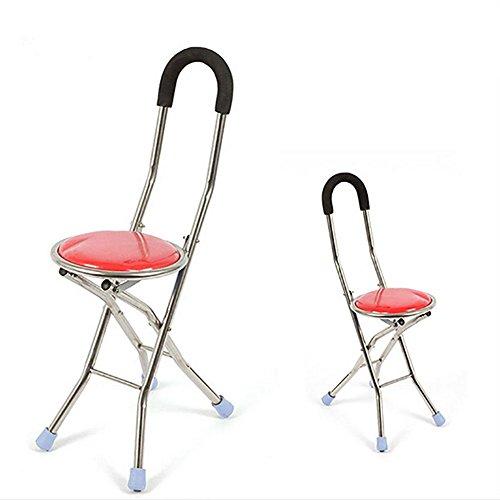 QIAN Aluminum Chaise Pliante Quatre Personnes Ges Canne Bquille Pouf Multifonctionnel