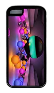spec cases colored light balls TPU Black Case for iphone 5C