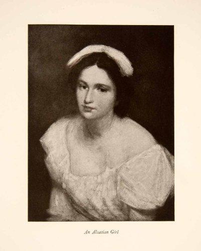 Alsatian Girl (1922 Print Julian Alden Weir Alsatian Girl Portrati American Impressionism Art - Original Halftone Print)