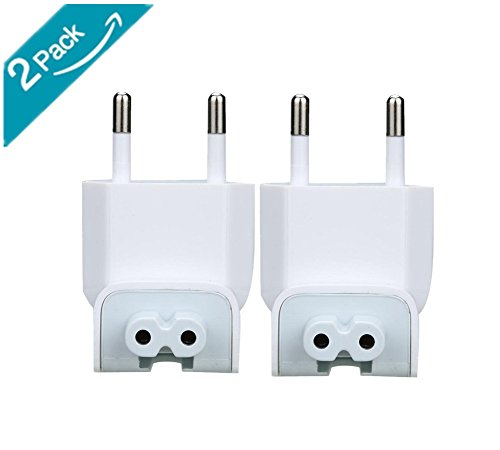 US to Europe Plug Converter Travel Charger Adapter for MacBook Mac iBook iPhone iPod AC Power Adapter Brick(2 PCS)