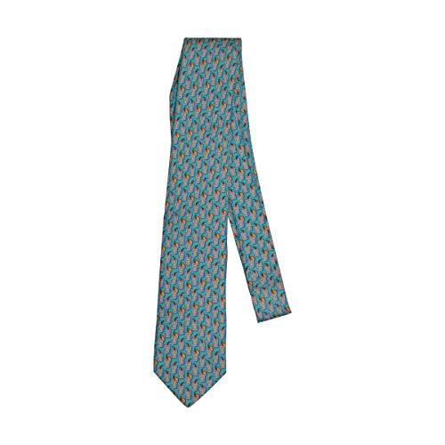 Vineyard Vines Men's Tie 100% Silk Standard Length Formal Necktie (One Size, Rum Punch/Turquoise)