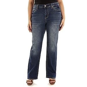 Women's Plus Size Stretch Bootcut Denim Jeans