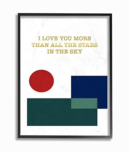 (Stupell Home Décor Love You More Than Graphic Modern Oversized Framed Giclee Texturized Art, 16 x 1.5 x 20, Proudly Made in USA)