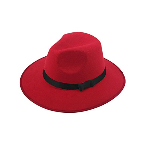 Carmen Sandiego Hat (ZHENXIA Women's Men's Cap Vintage Hard Felt Blower Jazz Hat Fedora Trilby Red)