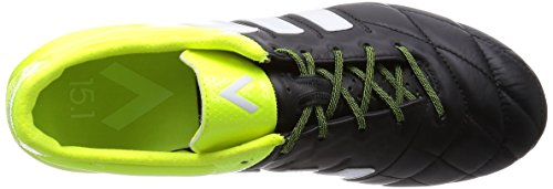adidas Ace 15.1 FG/AG Leather, Scarpe da Calcio Uomo Black