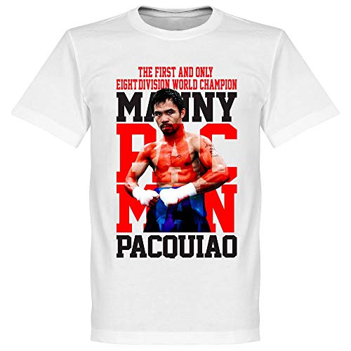 Manny Pacquiao Boxing Legend Tee - White - XL (T-shirt Manny Legend)