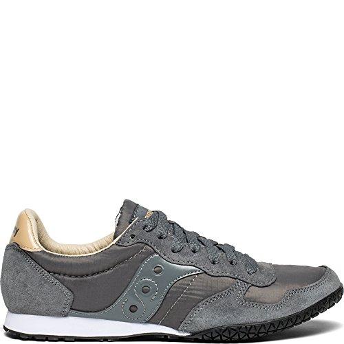 (Saucony Originals Women's Bullet Sneaker, Grey/tan, 8.5 M US)