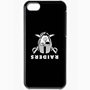 Personalized iPhone 5C Cell phone Case/Cover Skin Nfl Oakland Raiders 4 Sport Black