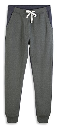 (HARBETH Men's Casual Fleece Jogger Sweatpants Cotton Active Elastic Pocket Pants Slate Green/Cadet Blue XL)