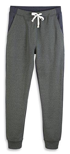 (HARBETH Men's Casual Fleece Jogger Sweatpants Cotton Active Elastic Pocket Pants Slate Green/Cadet Blue XL)