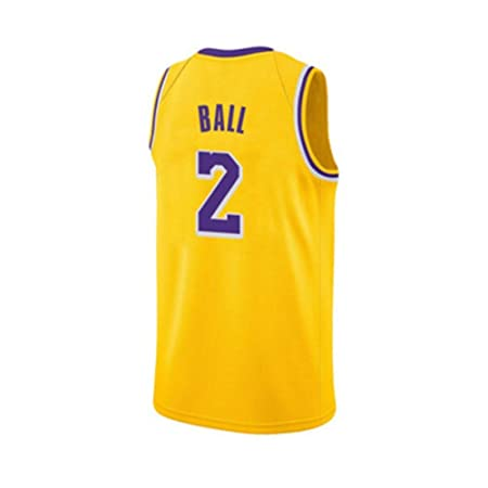 Genmaisiquanjia Camiseta De Baloncesto - Lakers # 2 Lonzo ...