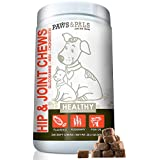 Glucosamine for Dogs - 240 Advanced Soft Chews - Treats Blended with Chondroitin + MSM for Hip Joint, Arthritis Relief & Digestive Enzymes & Salmon Oil for Skin & Coat. for Senior Dogs & Cat All Ages
